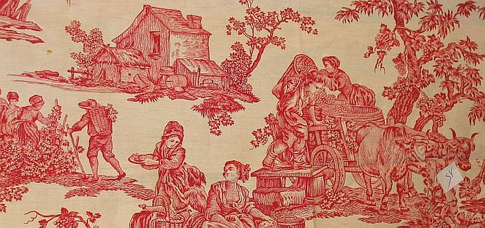 19th Century French Fabric for Collection of Early British etc. event 700 x 330